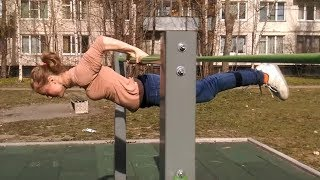 The Strongest GIRL In STREET WORKOUT - Tatyana Chumakova