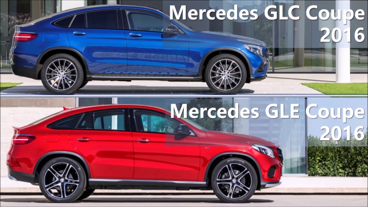 2016 mercedes glc coupe vs 2016 mercedes gle coupe comparison youtube. Black Bedroom Furniture Sets. Home Design Ideas