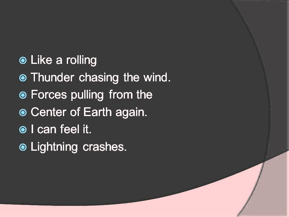 Live lightning crashes lyrics