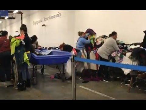 "Inside the New York Goodwill Outlet Store - ""The Bins"" with Haul For Selling on eBay"