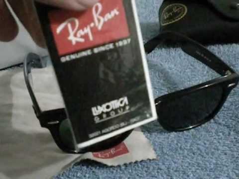 Como identificar ray-ban Wayfarer originales. - YouTube 7b13e0a594