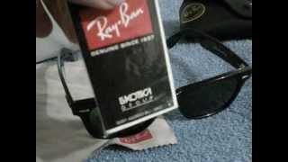 Como identificar ray-ban Wayfarer originales.(En el vídeo muestro los aspectos fundamentales de una lentes Wayfarer originales, el modelo es el RB- 2140 901. las lentes solo traen lo que se ve acá mas el ..., 2012-10-29T00:54:06.000Z)