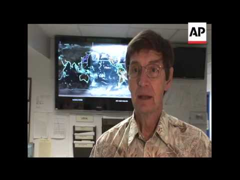Scientists at the Pacific Tsunami Warning Center in Hawaii continue to monitor aftershocks and warn