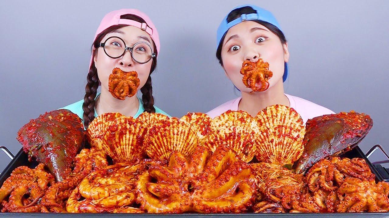 Download मसालेदार समुद्री भोजन उबाल मुकबंग DONA Mukbang दोना हिंदी