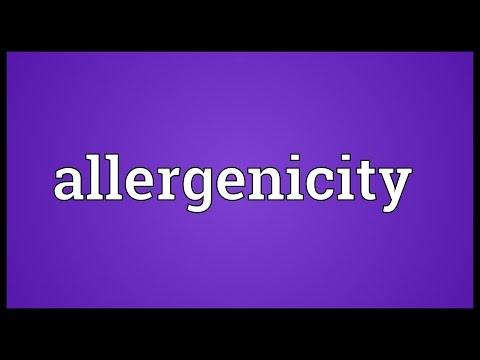 Header of allergenicity