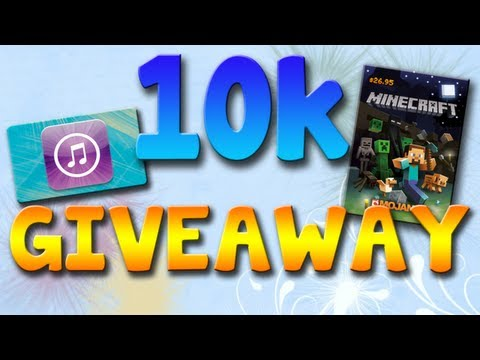 10k GIVEAWAY! Minecraft Account and $25 iTunes Card