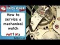 How to service a mechanical watch. Part 1. AS 1900 in a Rotary watch