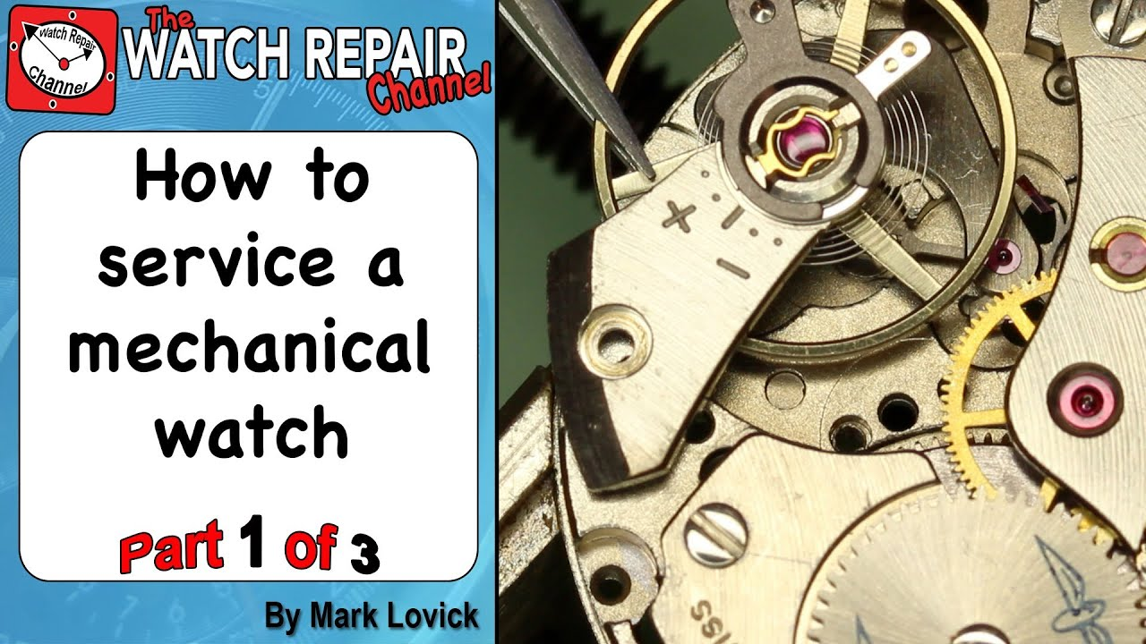 service a mechanical watch. Part 1. AS 1900 in a Rotary watch ...