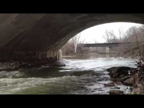 Indiana Central Canal Aqueduct over Fall Creek