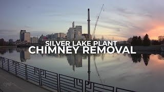 Time Lapse- Chimney Demolition in Rochester Minnesota captured with Afidus cameras with 4K upscale