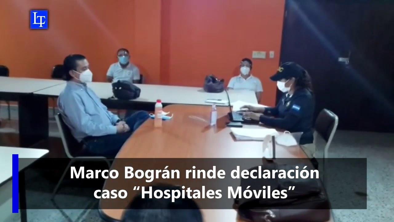 """Marco Bográn rinde declaración caso """"Hospitales Móviles"""""""