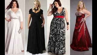 Нарядные и стильные платья для полных женщин