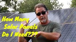 How Many Solar Panels Do I Need???