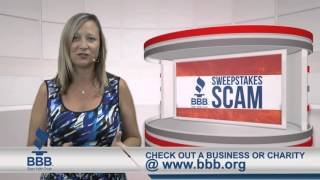BBB Sweepstakes Scam