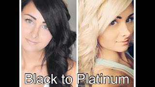 How I Bleached My Hair From Black to Platinum Blonde