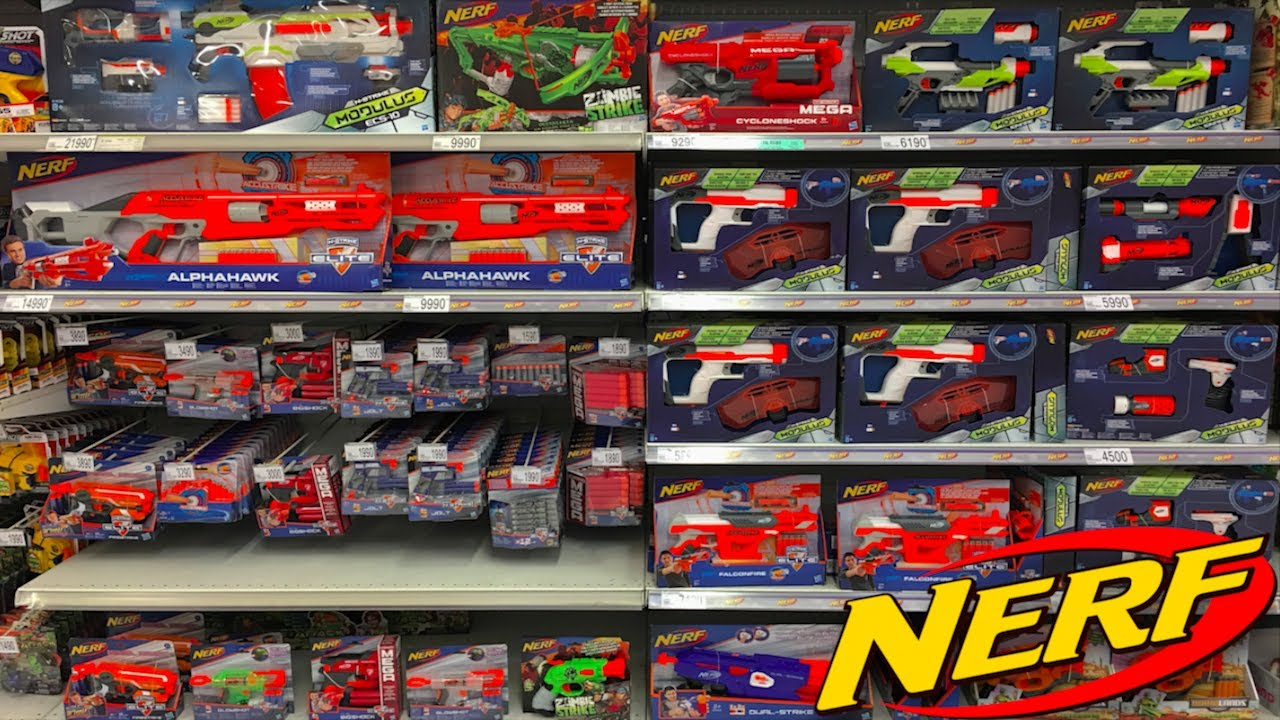 nerf gun shopping at target youtube