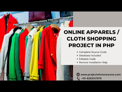 Online Apparels and Accessories Shopping Project in PHP and MySql image
