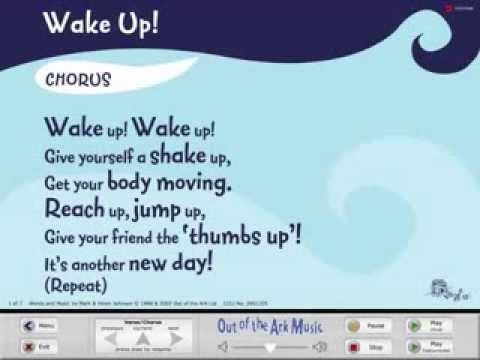 Wake Up! - Words on Screen™ Original - School Songs