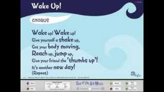 Wake Up! School Assembly Song with Words on Screen from Songs For EVERY Assembly by Out of the Ark