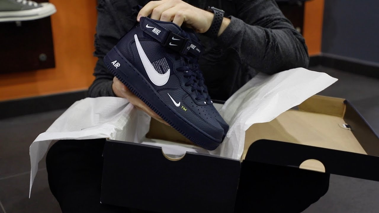 release date: 2d7c9 0009d Unboxing Sneakers Nike Air Force 1 Mid LV8 804609-403   Freesneak