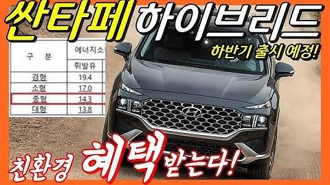 싼타페 하이브리드! 친환경차 혜택까지 받는다! (feat. 쏘렌토) Hyundai santa fe hybrid! SUV!