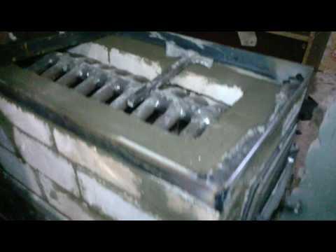Каменная печь с встроенным теплообменником. Отопление дома.
