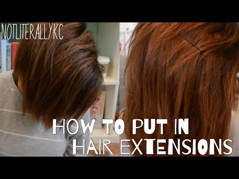 How To Put in Hair Extensions with a shaved head
