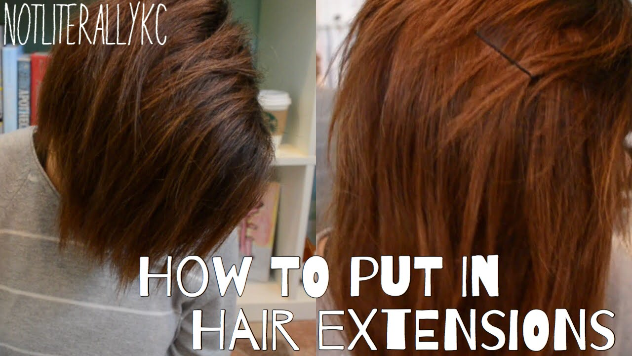 How To Put In Hair Extensions With A Shaved Head Youtube