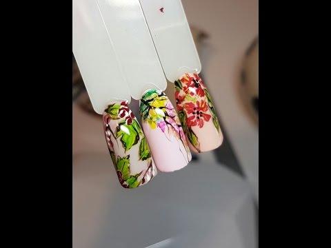 My Cat inspired Nail Art Tutorial / Дизайн Ногтей акриловыми красками (рисунки на ногтях)