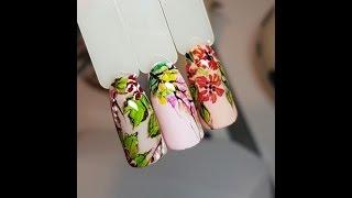 видео дизайн ногтей акриловыми красками