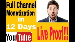 Full Monetization in 12 Days | Promote your YouTube channel | New 2018