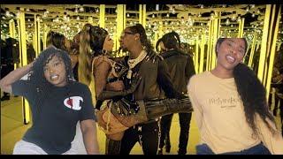 Offset - Clout feat. Cardi B (Official Music Video) REACTION NATAYA NIKITA