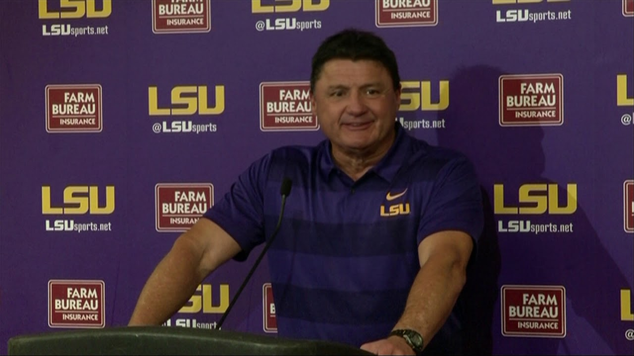 10 20 18 Lsu Postgame Ed Orgeron Press Conference Youtube