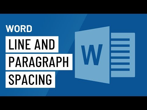 Word 2016: Line and Paragraph Spacing