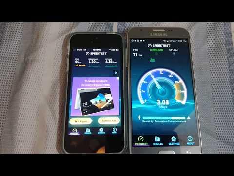 Iphone SE (Simple Mobile) vs J3 Emerge (Virgin Mobile) Network Speedtest!!