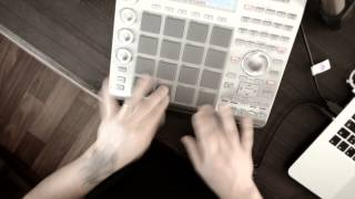 Finger drumming practice AKAI MPC Studio (Dislocated Day by Porcupine Tree)
