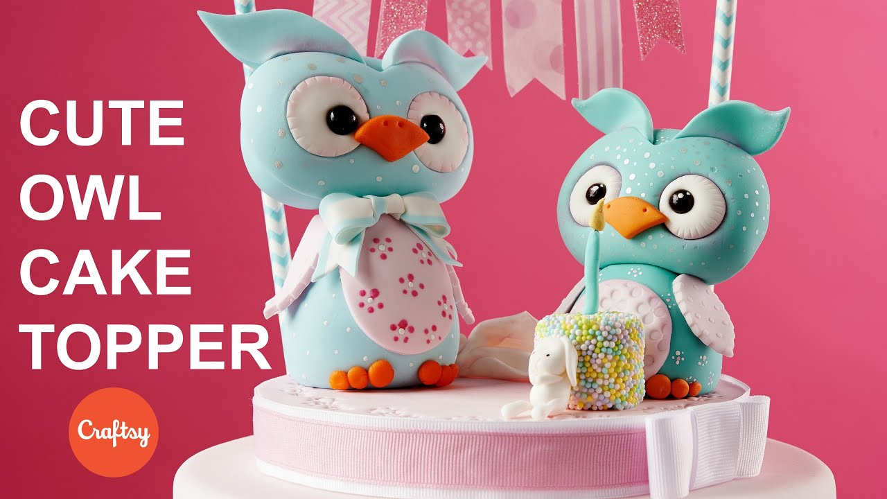 Cute Owl Animal Topper for Cakes