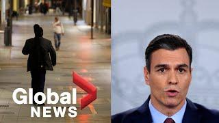 Coronavirus outbreak: Spain orders businesses, schools to close as nationwide lockdown imposed