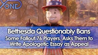 Bethesda Questionably Bans Some Fallout 76 Players, Asks Them to Write Apologetic Essay as Appeal