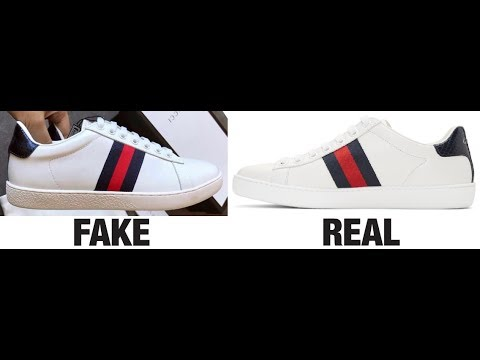 782a6b932ca How To Spot Fake Gucci Ace Trainers   Sneakers Real vs Fake Comparison