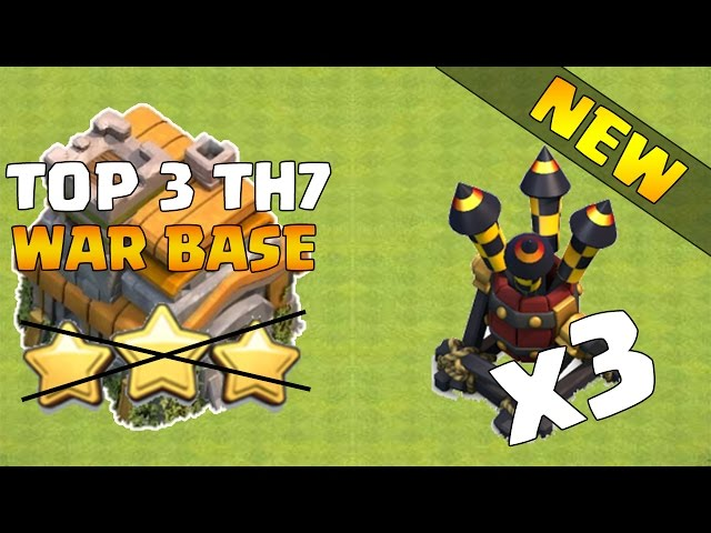 Top 3 TH7 War Base - Best Town Hall 7 (TH7) War Base - August 2016 - Clash of Clans