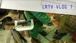 LRTV VLOG - D2 Front Axle Swivel Ball Joint Removal. Rust Busting With Electrolysis