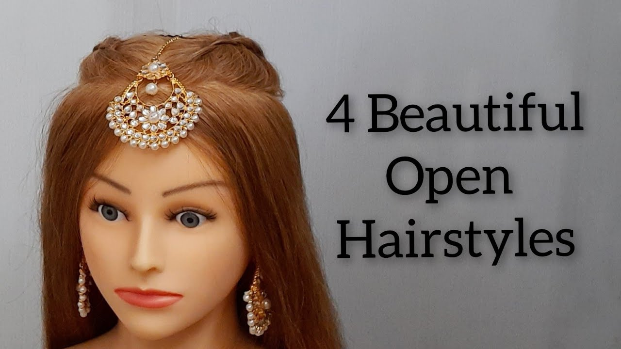 4 Beautiful Open Hairstyles : Wedding Hairstyles : Open Hairstyle Everyday for College Girls