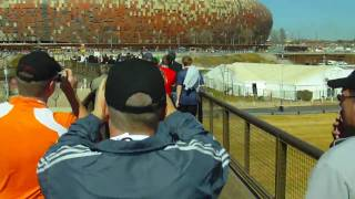 Josh/EJ - Outside Soccer City Stadium - JoBurg, South Africa