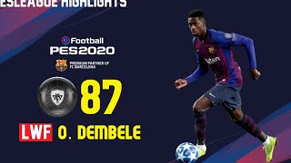 Pes 2020 barcelona official player ratings!!