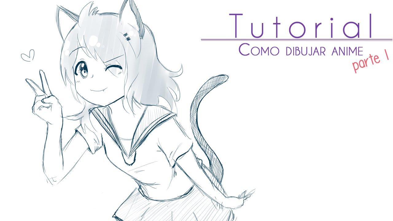 Tutorial ۰•●Como dibujar anime [parte 1] Cuerpo femenino ●•۰, dibujos de Animé, como dibujar Animé paso a paso