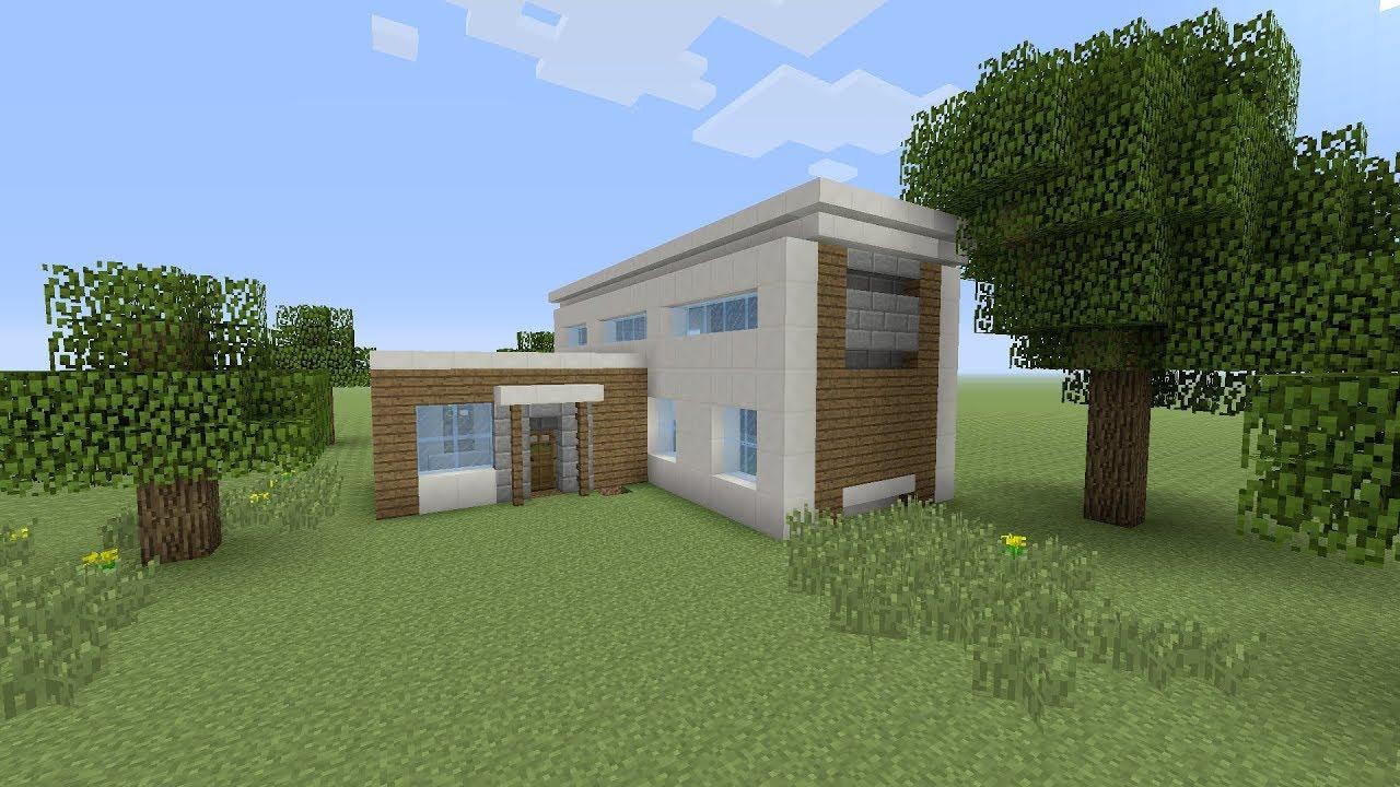 Minecraft een makkelijke moderne huis maken nederlands youtube
