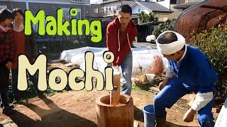 How to Make Mochi (pounded rice) the old fashioned way! [餅つき大会@茨城]