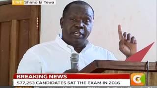 CS Matiang'i Releases KCSE Results