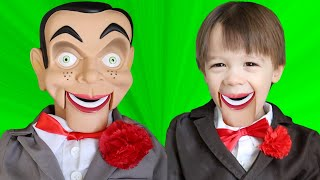 Slappy Turned My Little Brother Sebastian into a DUMMY! Slappy Plays with My PB and J Family!